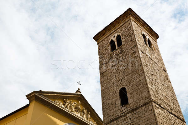 Old Church Facade and Bell Tower in Rijeka, Croatia Stock photo © anshar