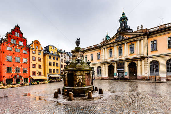 Stortorget in Old City (Gamla Stan), the Oldest Square in Stockh Stock photo © anshar