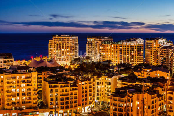 Monaco port français maison Photo stock © anshar