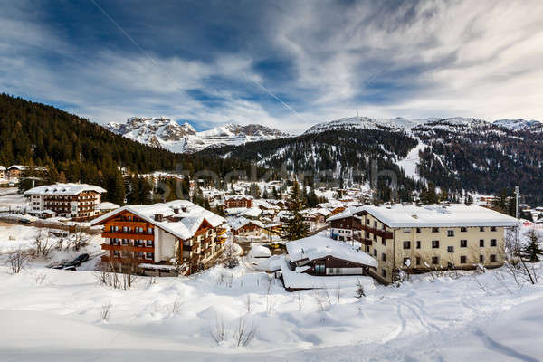 Ski Resort of Madonna di Campiglio, View from the Slope, Italian Stock photo © anshar