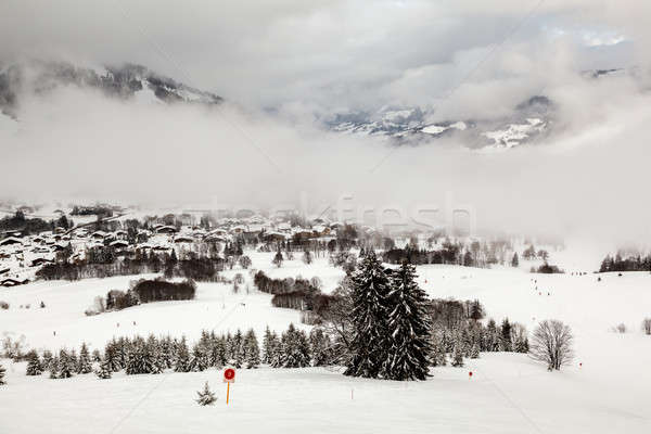 Aerial View on Ski Resort Megeve in French Alps, France Stock photo © anshar