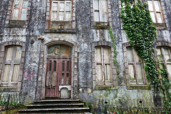 Edad casa Lisboa Portugal casa Foto stock © anshar