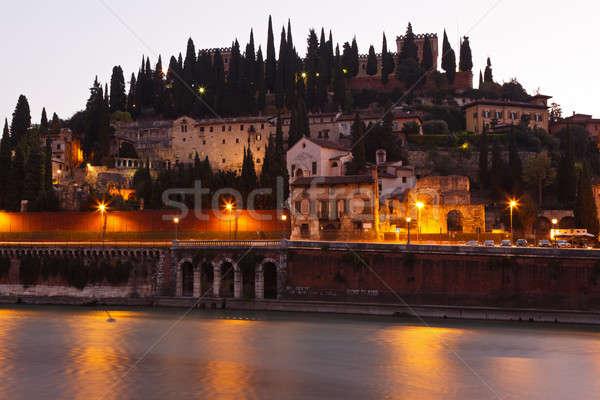 романтические утра Верона Италия небе стены Сток-фото © anshar