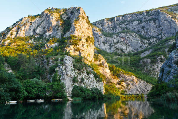 Canyon of the River near Split, Croatia Stock photo © anshar