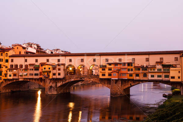 Ponte Vecchio Bridge Across Arno River in Florence at Morning, I Stock photo © anshar