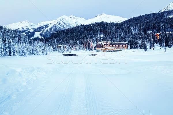 Ski Slope near Madonna di Campiglio Ski Resort in the Morning, I Stock photo © anshar