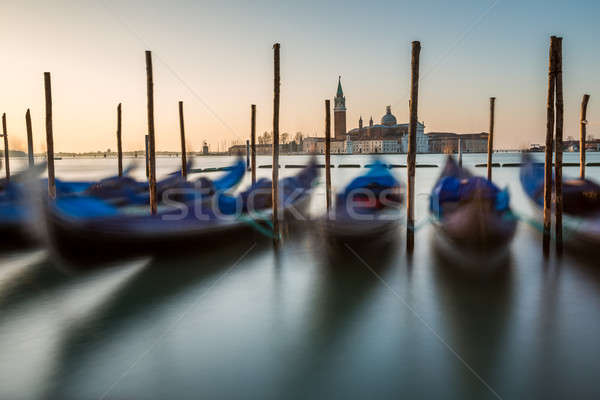 Kanaal kerk dawn Venetië Italië water Stockfoto © anshar