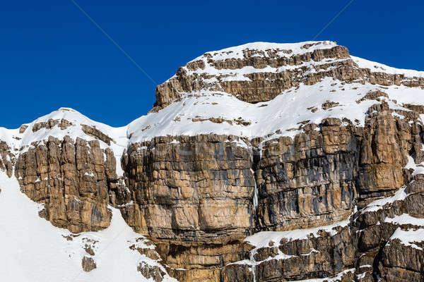 Rocky Mountains on the Ski Resort of Arabba, Dolomites Alps, Ita Stock photo © anshar
