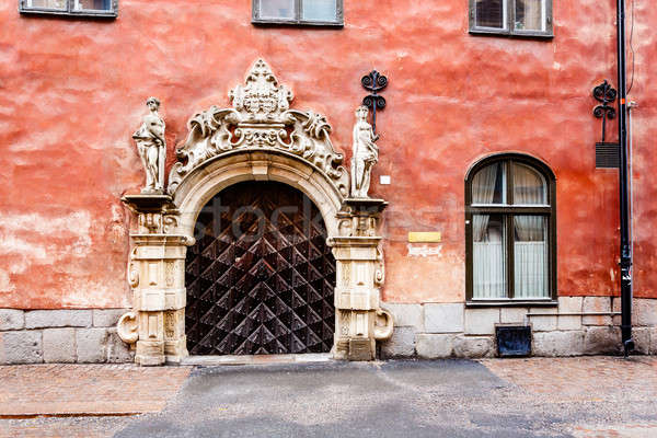 Ornate Marble Gate in Stockholm Old Town (Gamla Stan), Sweden Stock photo © anshar