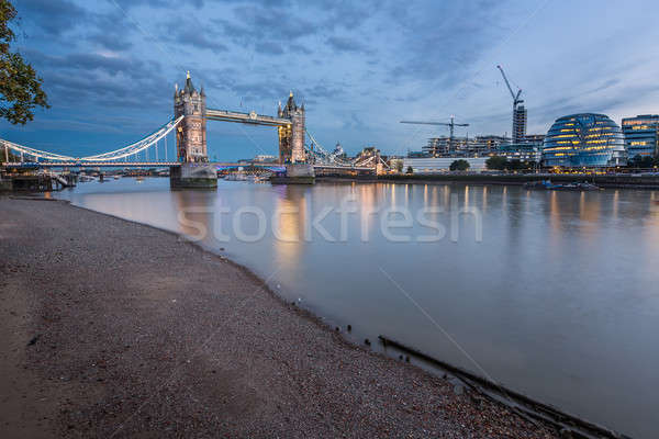 Thames River and Tower Bridge at the Evening, London, United Kin Stock photo © anshar