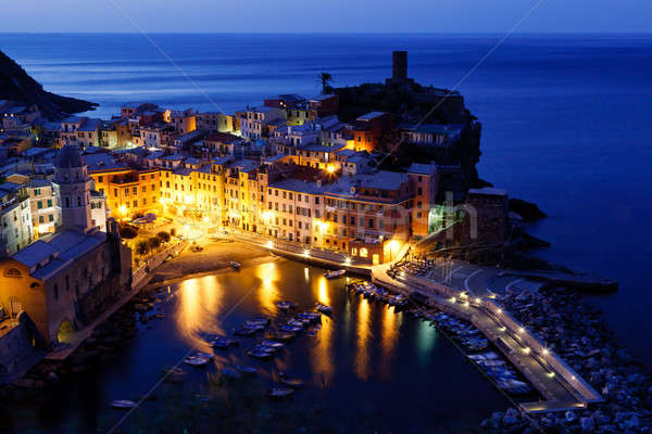 Historical Village Vernazza in the Night, Cinque Terre, Italy Stock photo © anshar