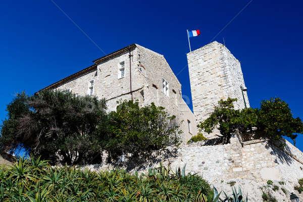 Museo dedito artista Francia muro blu Foto d'archivio © anshar