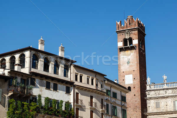Bell Tower on Piazza delle Erbe in Verona, Veneto, Italy Stock photo © anshar