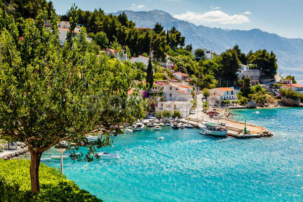 Beautiful Adriatic Bay and the Village near Split, Croatia Stock photo © anshar