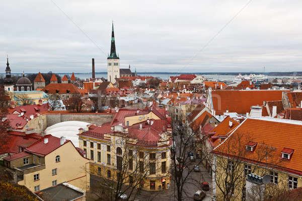 панорамный мнение старый город Таллин Эстония Сток-фото © anshar
