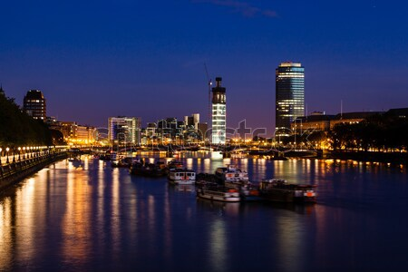 Thames River and London Cityscape in the Night, United Kingdom Stock photo © anshar