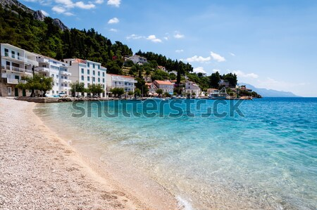 Mediterranean Sea with Transparent Water and Pebble Beach in Cro Stock photo © anshar