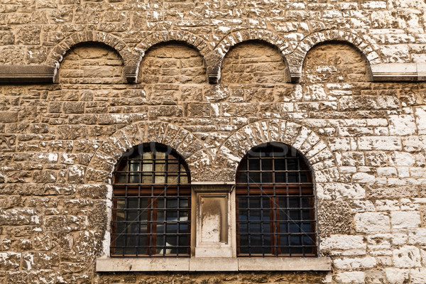 Arched Windows in Ancient House in Pula, Croatia Stock photo © anshar