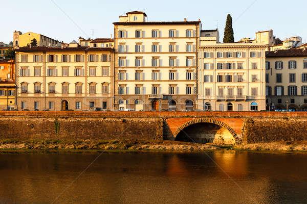 Nehir gündoğumu Floransa Toskana İtalya şehir Stok fotoğraf © anshar