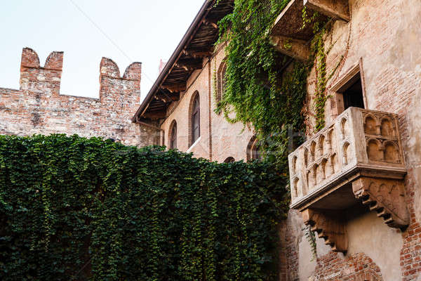 The Famous Balcony of Juliet Capulet Home in Verona, Veneto, Ita Stock photo © anshar