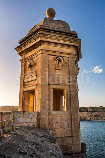 Fortified Tower in Gardjola Gardens, Malta Stock photo © anshar
