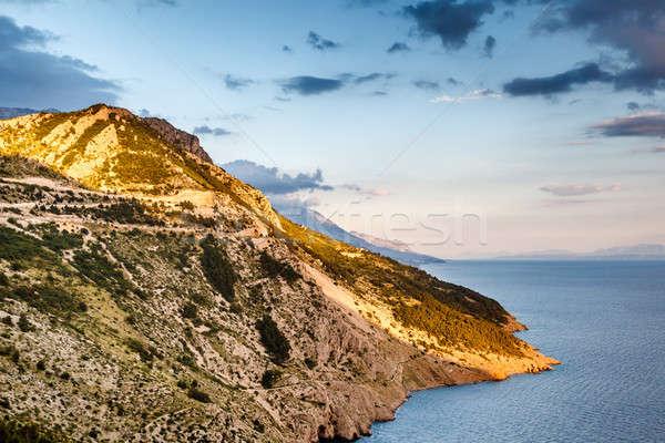 View on Makarska Riviera Coast in the Evening, Croatia Stock photo © anshar