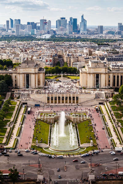 Aerial View on Trocadero and La Defense From the Eiffel Tower, P Stock photo © anshar