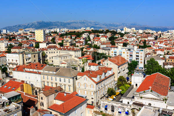 Saray şehir Hırvatistan gökyüzü ev Stok fotoğraf © anshar
