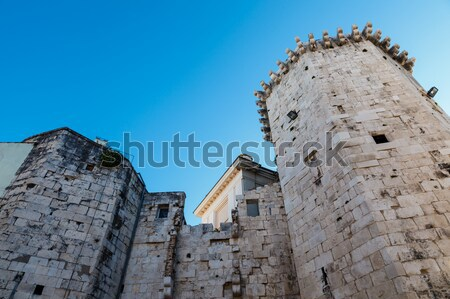 Fortified Walls and Towers of Split, Croatia Stock photo © anshar