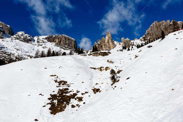 Сток-фото: гор · лыжных · курорта · Альпы · Италия · небе