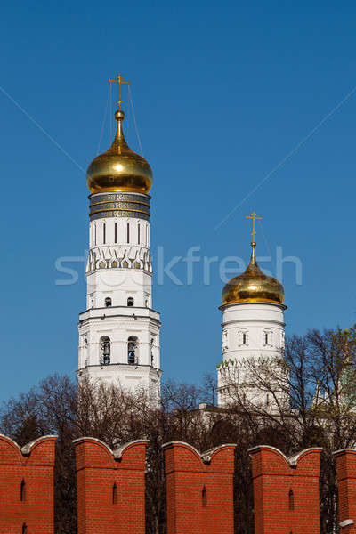 Ivan the Great Bell Tower behind Kremlin Wall, Moscow, Russia Stock photo © anshar