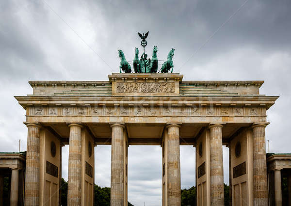 Quadriga on Top of the Brandenburger Tor (Brandenburg Gate) in B Stock photo © anshar