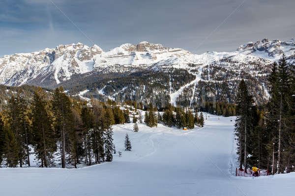 Ski Resort italien alpes Italie Photo stock © anshar