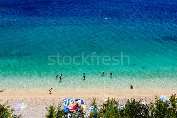 Beautiful Adriatic Beach and Transparent Blue Water near Split,  Stock photo © anshar
