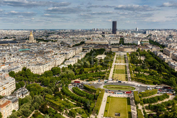 Aerial View on Champ de Mars and Invalides from the Eiffel Tower Stock photo © anshar