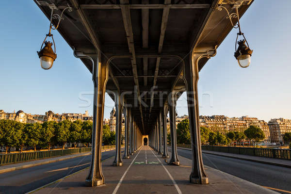 Bir-Hakeim Bridge in the Morning, Paris, France Stock photo © anshar