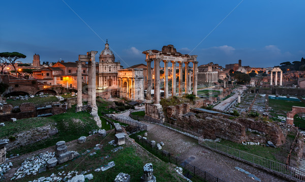 Panorama of Roman Forum (Foro Romano) in the Evening, Rome, Ital Stock photo © anshar