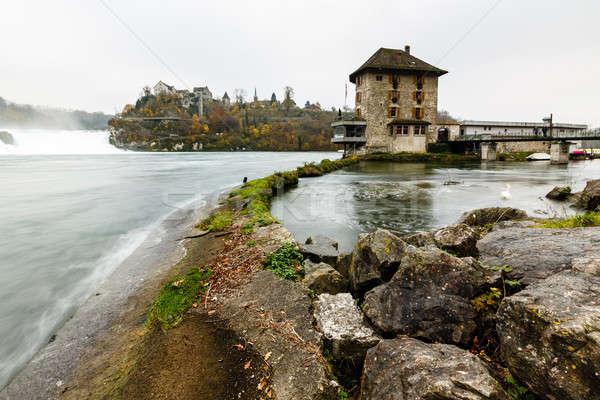 мнение водопада Европа дерево здании Сток-фото © anshar