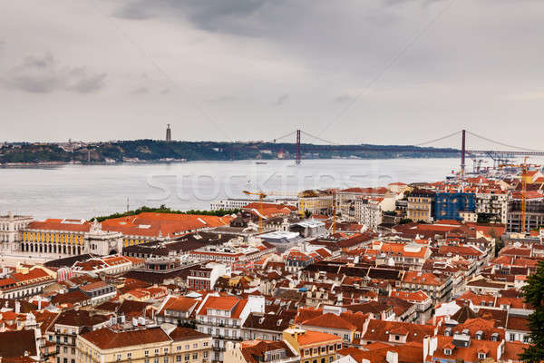 Lisboa 25 puente Portugal cielo Foto stock © anshar
