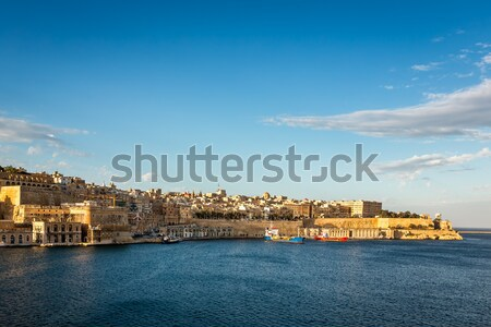 View on Valletta and Grand Harbour in the Evening, Malta Stock photo © anshar