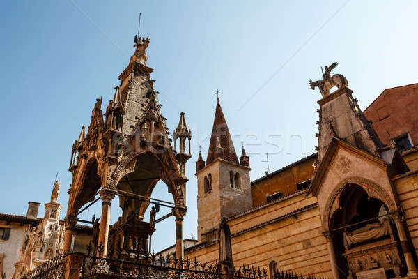 Famous Gothic Funerary Monument of  Scaliger Tombs (Arche Scalig Stock photo © anshar