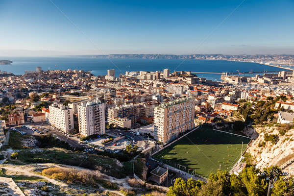 Aerial View of Marseille City and its Harbor, France Stock photo © anshar