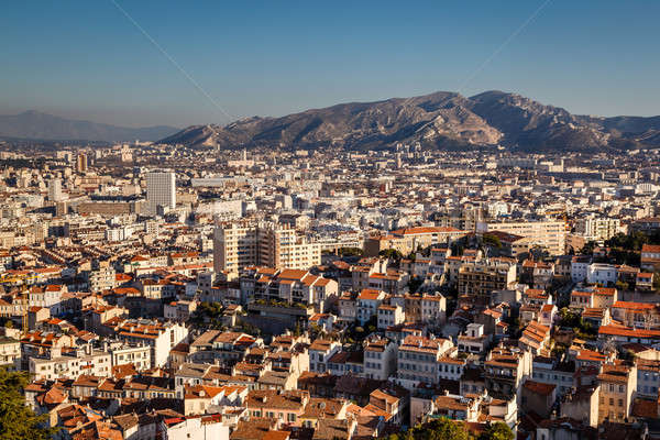 Luchtfoto Marseille stad bergen Frankrijk landschap Stockfoto © anshar