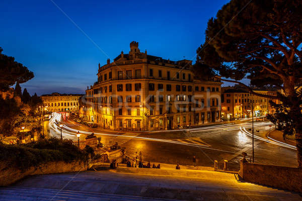 Marcello Theater and Traffic Trails on Via Marcello, View from C Stock photo © anshar