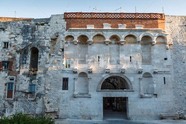 ゴールデンゲート 宮殿 クロアチア 空 家 市 ストックフォト © anshar