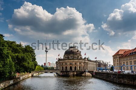 River Boat Approacing Museum Island, Berlin, Germany Stock photo © anshar