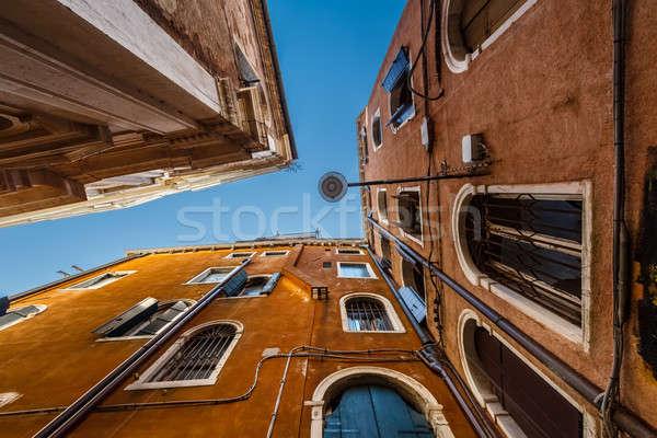 Oude historisch huizen Venetië Italië gebouw Stockfoto © anshar