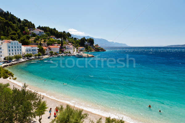 Stock photo: Deep Blue Sea with Transparent Water and Beautiful Beach in Croa