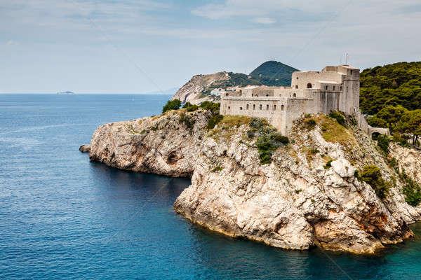 Panorámakép kilátás erőd Dubrovnik Horvátország égbolt Stock fotó © anshar