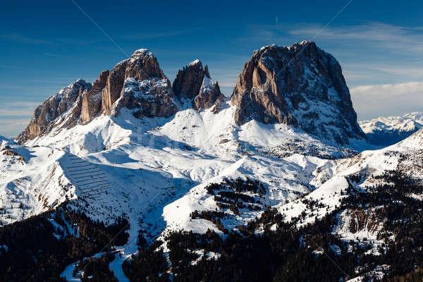 Passo Sella Peak on the Ski Resort of Canazei, Dolomites Alps, I Stock photo © anshar
